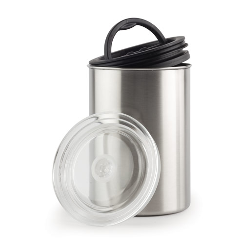 Airscape KAC-508 Chrome Air-tight Coffee Food Storage Canister 64 oz